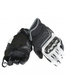 Dainese Carbon D1 Short Gloves Black/White/Antracite