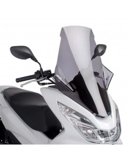 Puig Ζελατίνα V-Tech Touring Honda PCX 125 14-17 Smoke