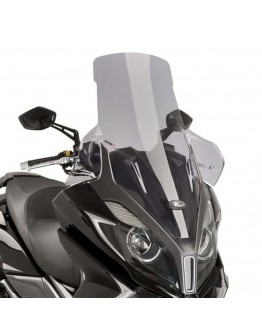 Puig Ζελατίνα V-Tech Touring Kymco Downtown ABS 125i/350i 15-18 Smoke
