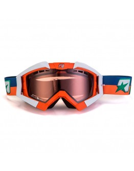 Ariete Μάσκα MX Riding Crows Basic White/Orange