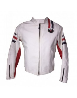 Dainese Saturno Leather Jacket Lady White