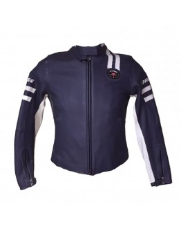 Dainese Saturno Leather Jacket Lady Blue