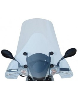 Fabbri Ζελατίνα Peugeot LXR 125/200 Restyling 08-10 Top Alto Clear