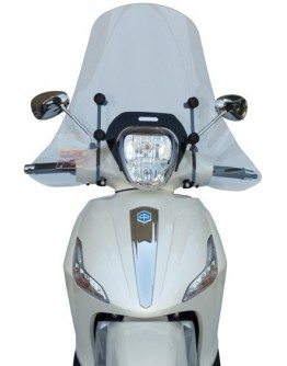 Fabbri Ζελατίνα Piaggio Beverly 125/300/350 10-18 Exclusive Clear