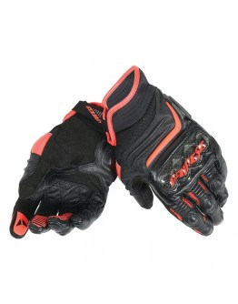 Dainese Carbon D1 Short Gloves Black/Black/Fluo Red