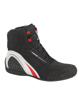 Dainese Motorshoe Lady D-WP Shoes Black/White/Red