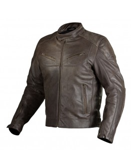 Nordcap Cafe Race Leather Jacket Brown