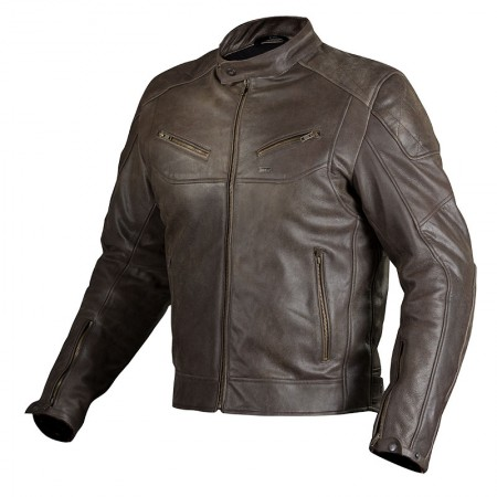Nordcode Cafe Race Leather Jacket Brown