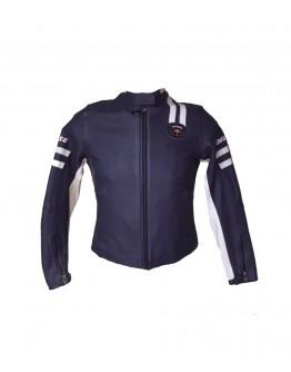 Saturno Leather Jacket Blue