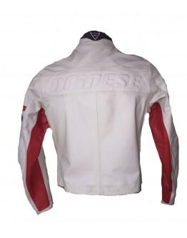 Saturno Leather Jacket White