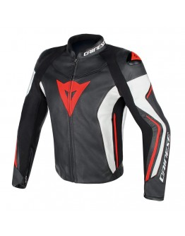 Assen Leather Jacket Red