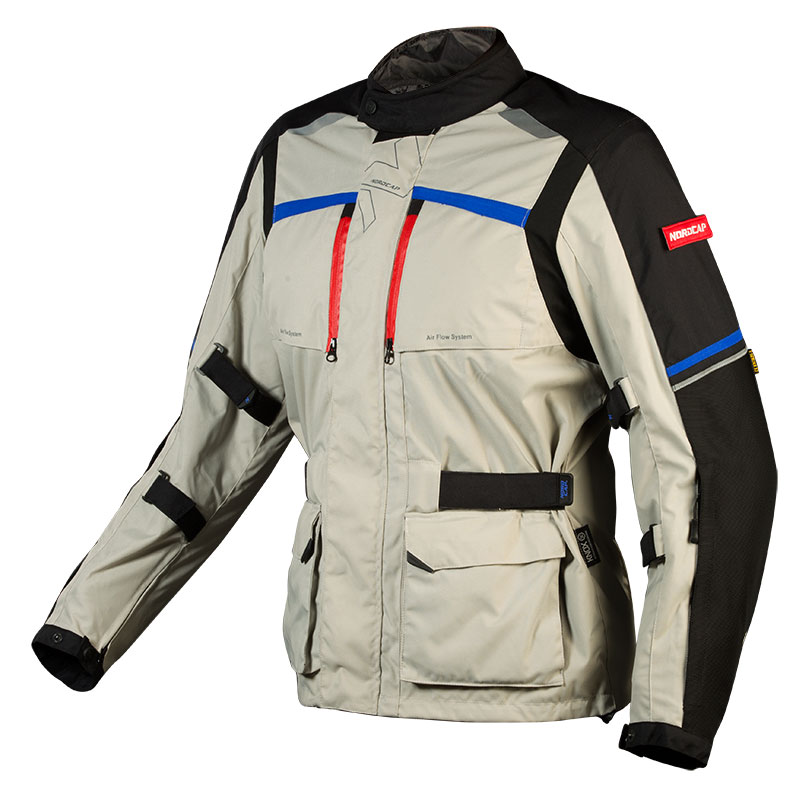 58e64194c043 Nordcap Adventure 4 Season Jacket Fluo Grey Blue