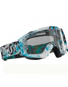 Scott Hustle MX Vice Black/Blue Lens Clear AFC Works