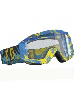 Scott Hustle MX Strobe Blue/Yellow Lens Clear AFC Works