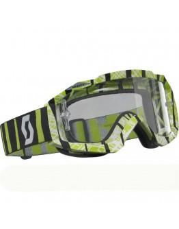 Scott Hustle MX Apek White/Green Lens Clear AFC Works