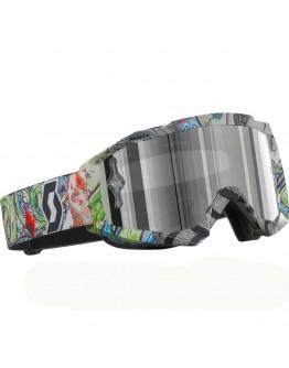 Scott Hustle MX Clobal Art Lens Silver Chrome AFC Works