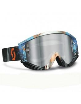Scott Recoil Xi Pro Tangent Blue/Orange Lens Silver Chrome