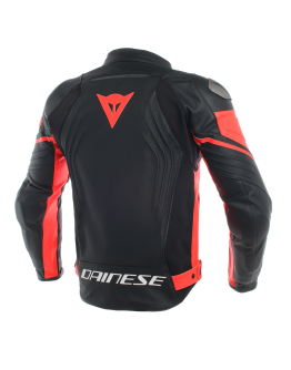 Racing 3 Leather Jacket Black/Red