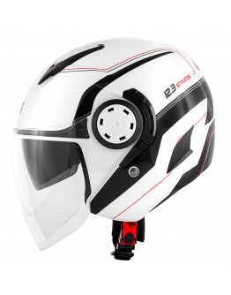 Givi 12.3 Stratos White Gloss/Black
