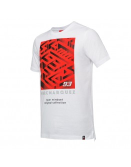 T-Shirt Marc Marquez Labyrinth White