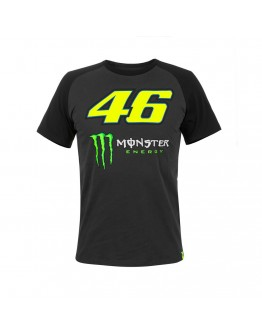 T-Shirt 46 Monster Raglan Sleeves Black