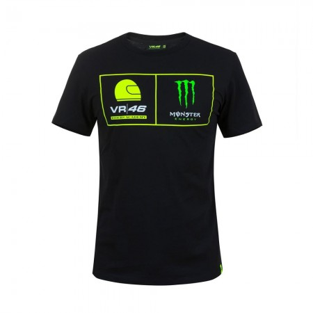 T-Shirt VR46 Riders Academy Monster Black